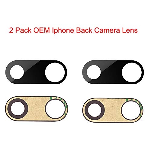 - 2 Pcak Afeax Compatible OEM Original Back Rear Camera Lens Glass Replacement for iPhone 7 Plus and iPhone 8 Plus (5.5 inch) with Adhesive Glue
