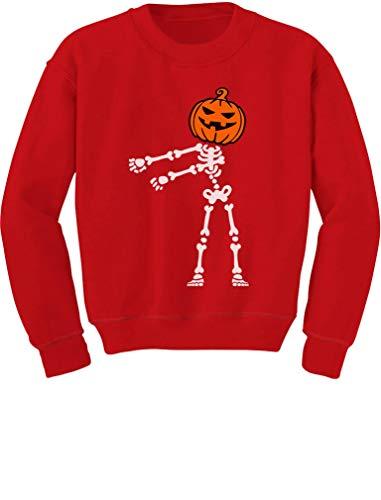 - Floss Dance Jack O' Lantern Pumpkin Halloween Skeleton Toddler/Kids Sweatshirt 2T Red