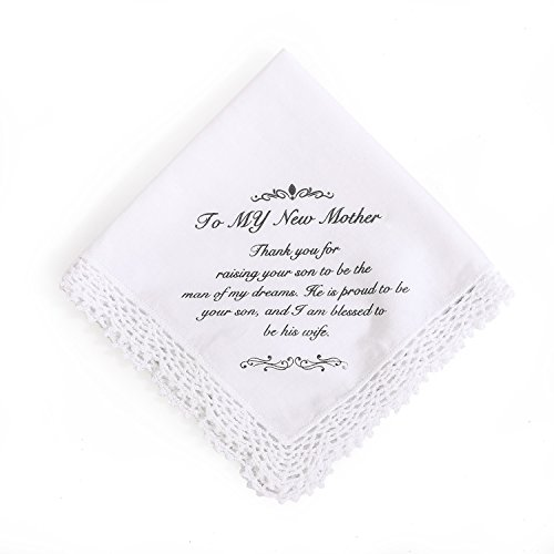 Ling's moment Hankie Wedding Handkerchief for New Mom Gift, Birthday Thanksgiving Christmas New Year Gift,100% Cotton