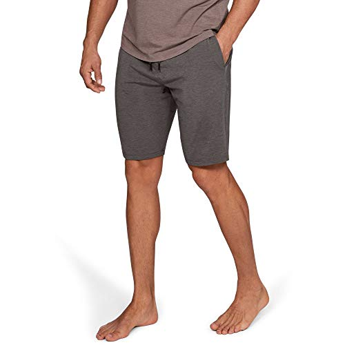 Under Armour Men's Recovery Sleepwear Elite Shorts, Fresh Clay Medium He (176)/Metallic Silver, Large