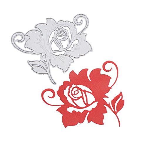 Wildflower Cutting Dies Rose Flower DIY Metal Stencil Template For Card Making