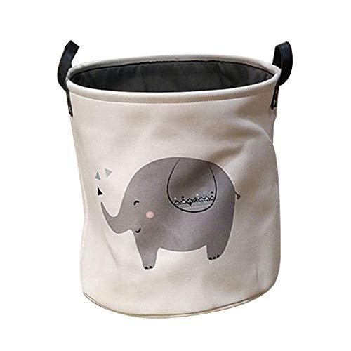 Pawaca Laundry Basket Foldable with Handles Nursery Toy Storage Basket Organizer Bins,Laundry Baskets,Bin Storage Organizer for Toy Collection, Bedroom (35×35cm) by Pawaca