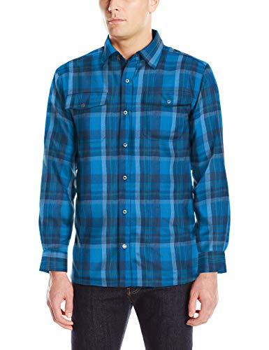 Mountain Khakis Men's Christopher Fleece Lined Shirt, Cayman Plaid, Medium