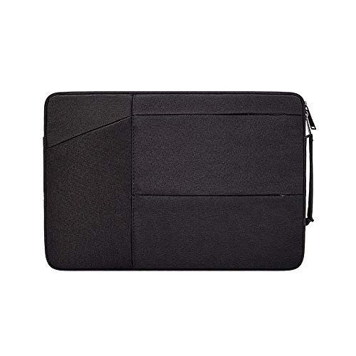 ProElife Water Resistant Laptop Sleeve Case Slim Portable Sleeve Bag with Handle for MacBook Pro 15.4 Inch/Surface Book 2/HP DELL Samsung Acer Asus 15-15.4 Inch Laptop Computer Notebook (Black)