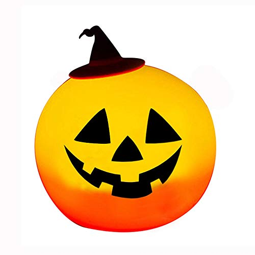 Pumpkin Silicone Pat Night Light,AVEKI LED Color Changing Dimmable Smart Halloween Lamp Sensitive Control Pat Night Lamp for Baby Kids Halloween Home -