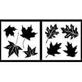 Auto Vynamics - STENCIL-CAMO-LEAF01-20 - Detailed Maple & Oak Leaves Camouflage Stencil Set - Perfect For DIY / Do-It-Yourself Camo Projects! - 20-by-20-inch Sheets - (2) Piece Kit - Pair of Sheets