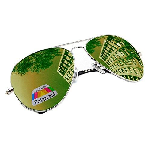 Gafas morefaz para hombre sol Green de Mirrored aqSwdq
