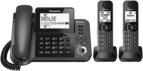 Panasonic KX-TGF382M DECT 6.0 Plus Corded/Cordless 2-Handset Landline Telephone System (Renewed) (Phones Android Panasonic)