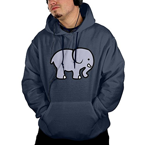 Navy Seal Embroidered Sweatshirt (Dngnanxia Elephant Men's Adult Pullover Hooded Sweatshirt L Navy)