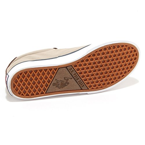 US Polo Association - Zapatillas para hombre Beige Beige Tortora