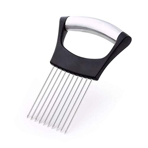 SHAFIRE Onion Holder Slicer Vegetable Tools Tomato Cutter Stainless Steel Kitchen Gadgets - Silver