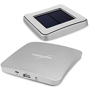 BoxWave [Universal Solar WindowMount Rejuva PowerPack] Solar Powered Backup Battery That Harnesses the Sun to Charge your Device - Silver