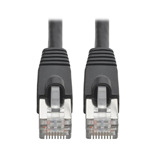 (Tripp Lite Cat6a Snagless Shielded STP Patch Cable 10G-Certified, PoE, Black M/M 3ft 3')