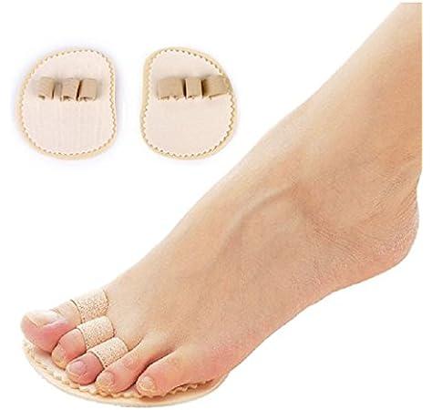 Enderezador de dedos de los pies en martillo, superposición de dedos de los pies, juanetes y separador para dedo gordo del pie.: Amazon.es: Hogar