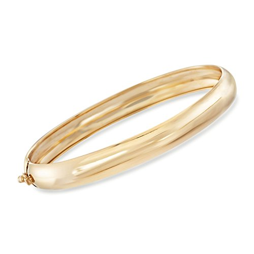Ross-Simons 14kt Yellow Gold Bangle Bracelet, Made in Italy, Includes Presentation Box