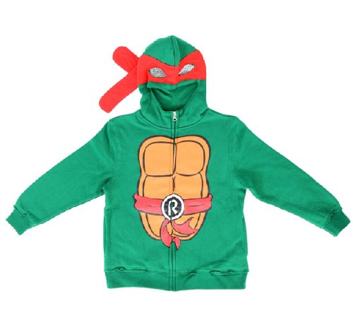 Teenage Mutant Ninja Turtles Raphael Boys Costume Zip Up Hoodie Sweatshirt (Toddler -