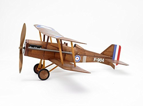 Raf Airplane - RAF SE5a WWI Bi-plane model airplane complete vintage model rubber-powered balsa wood aircraft kit that really flies! by