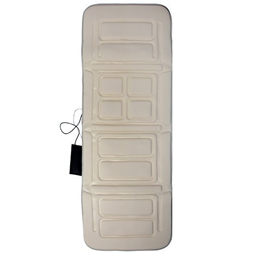 - Full Body Massager, 10-Motor Massage Mat with Heat for Soothing Body Relief, Massages Upper and Lower Back, Hips, Lumbar Area and Legs, Beige