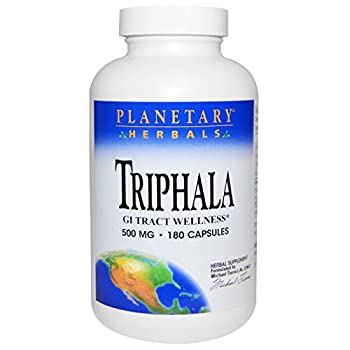 Triphala Internal Cleanser 500 mg Planetary Herbals 180 Caps