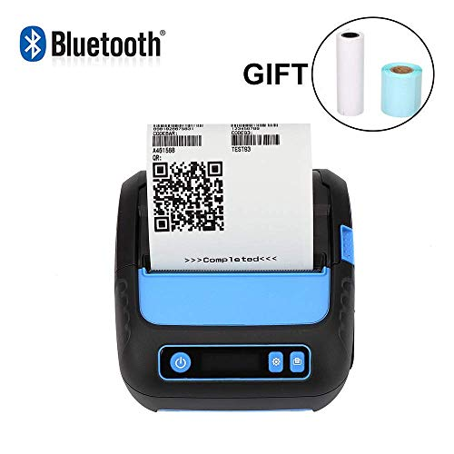 80mm Thermal Receipt Printer Wireless Bluetooth Shipment Label Maker Printer 3 in 1 MUNBYN Mobile Printer with 2600 mAh Rechargeable Battery Supported ESC/POS/TSPL/CPCL