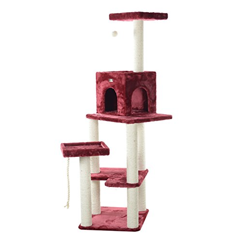 Armarkat A6902B Classic Pet Cat Tree, Burgundy
