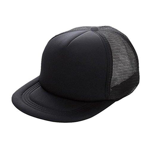 Unisex Mesh Baseball Cap Hat Blank Visor Hat Adjustable BK