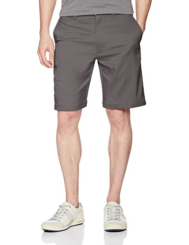 PGA TOUR Men's Flat Front Active Waistband Cargo Short, Quiet Shade, 38
