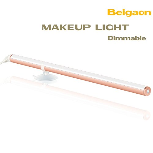 Beigaon [New Version] LED Portable Makeup Light, 300mm Dimmable Vanity Mirror Light for Cosmetic Bathroom Lighting with Touch Control and USB Powered - Rose Gold by Beigaon