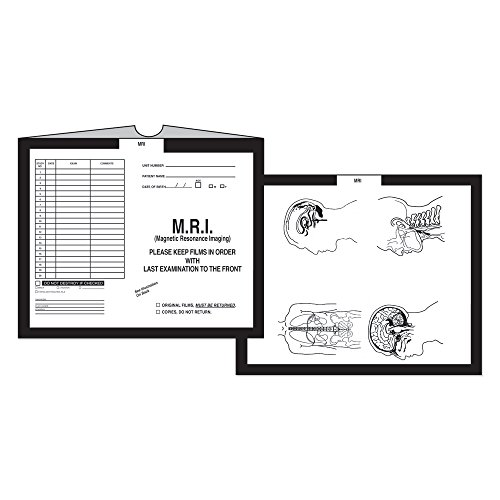 PDC Healthcare CJT-MR2 Category Insert Jacket, Open Top Mri, 28# Kraft, 14-1/4'' x 17-1/2'', Black (Pack of 250) by PDC Healthcare