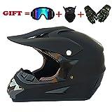 yaning DOT Motocross Helmet Full Face Offroad Dirt Bike Helmet Motorcycle ATV Mountain Bike Sports with Goggle Mask