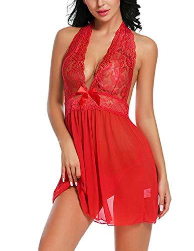 - Buauty Lingerie Lace Dress Babydoll Women Nightwear Sleepwear