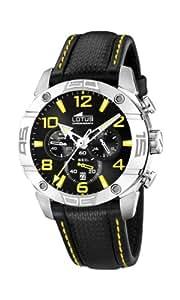 Lotus 15644/6- - Reloj de caballero de cuarzo, correa de piel color negro