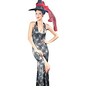 IF FEEL Women's Sexy Skeleton Halloween Costume Role Play Cosplay Sets (One Size, LC8577)