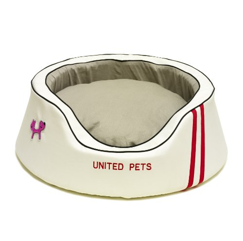 Petego United Dreams Florence Pet Bed, White, 35.5 Inches by 35.5 Inches by 11.5 Inches, My Pet Supplies