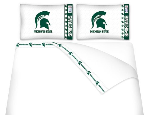 NCAA Michigan State Spartans - 5pc BEDDING Set - Queen Bed in a Bag by Store51 (Image #2)