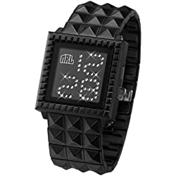 "ZERONE Crossover Nine Rulaz ""STARLIGHT"" IP Black Swarovski Crystal Digital Watch"