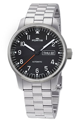 Fortis Men's 623.10.71 M Spacematic Pilot Proffesional Analog Display Automatic Self Wind Silver Watch