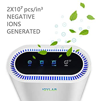 iGylar Air Purifier ETL Verified with True HEPA Filter for Allergies Smoke Dust Ultra High CADR Odor Eliminator Air Cleaner for Large Room with Negative-Ion Smart Air Monitor Optional Child Clock