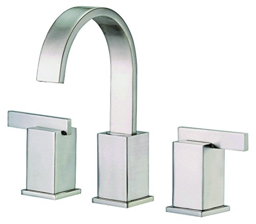 us Two Handle Widespread Lavatory Faucet, Brushed Nickel (Sirius Sink Faucet)