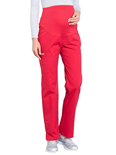 Cherokee WW Professionals WW220 Maternity Straight Leg Pant Red L ()