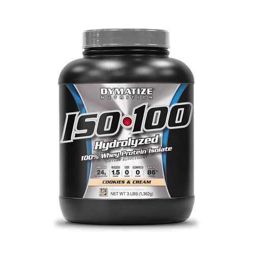 Iso-100, Strawberry 3 lbs by Dymatize (Pack of 3) by Dymatize