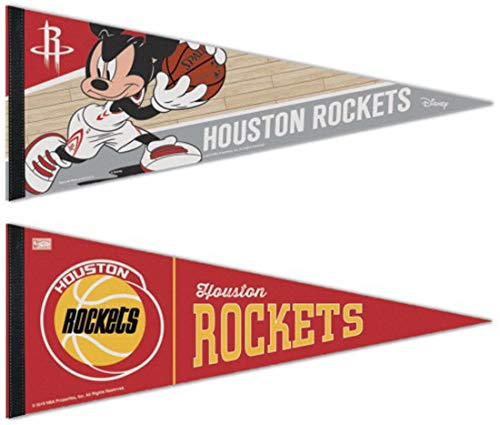(Bundle 2 Items: NBA Houston Rockets 2 Premium Pennants 1 Disney and 1 Vintage)