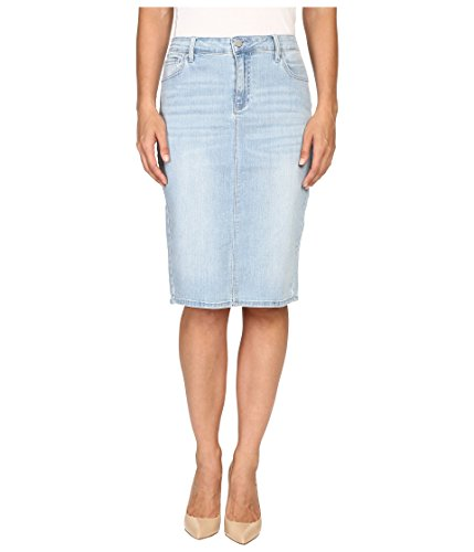 Calvin Klein Jeans Women's Essential Pencil Skirt, Faded Sky, 28 (Tea Skirt Collection Cotton)