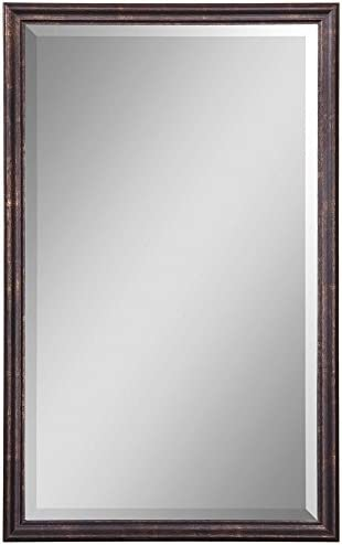 Uttermost, Bronze Renzo Vanity Mirror 1.75 x 20.125 x 32.125, Leaf, 32.1 L x 20.1 W x 1.8 D