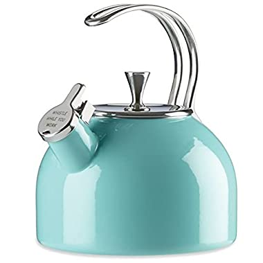 KSNY All in Good Taste 857005 Metal Kettle Turquoise, Turq/Aqua