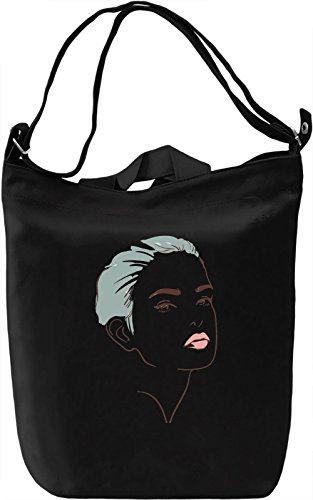 Girl Portrait Borsa Giornaliera Canvas Canvas Day Bag| 100% Premium Cotton Canvas| DTG Printing|