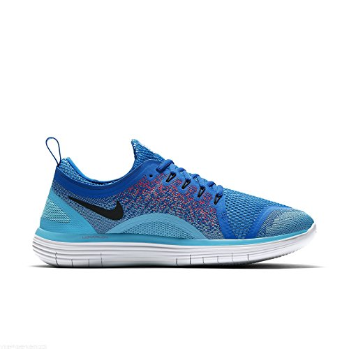 Nike Free RN Distance 2, Scarpe da Corsa Uomo 403 SOAR/BLACK-HOT PUNCH-POLAR