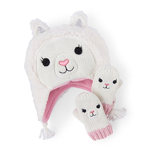 Cold Weather Set - The Children's Place Little Girls' Lama Themed Cold Weather Sets, Snow 91651, M (2T/3T)