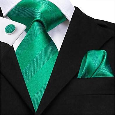 XIAMAZ Conjunto De Negocios De Raya De Corbata Verde para Hombres ...