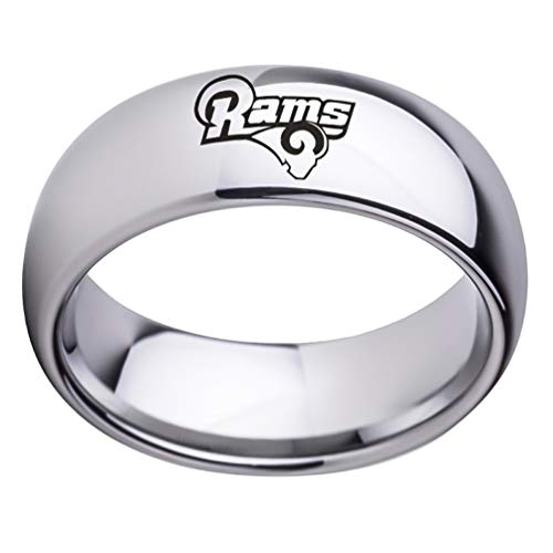 Sping Jewelry Los Angeles Rams Sign Ring NFL American Football National Team Titanium Steel Sports Band